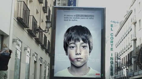 Multi-Faceted Violence Ads - This ANAR Campaign Shows a Different Message to Kids and Adults