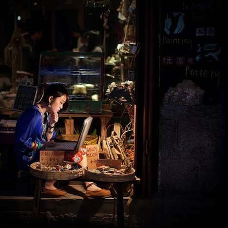 Lonely Street Vendors Photography - This Collection from Michael Steverson Features Street Vendors
