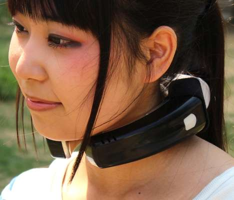 Necklace Air Conditioners - The Neck Cooling and Massager by Thanko Keeps You Comfortable