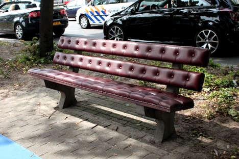 Upholstered Park Benches - Dutch Designer Joost Goudriaan has Transformed a Regular Park Bench