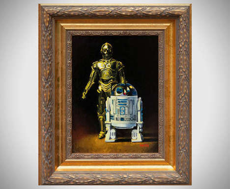 Regal Intergalactic Portraits - Mats Gunnarsson Transforms Star Wars Characters into Classic Art