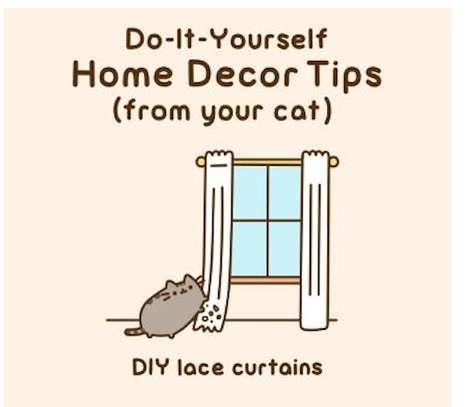 Cheeky Cat Decor Illustrations - Pusheen the Cat Gives His Owners Some Home Decor Tips