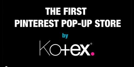 Social Media Pop-Up Stalls - Kotex and Smoyz Team Up in Tel Aviv to Create a Pop-Up Pinterest Store