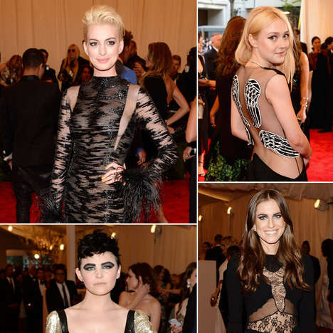 Glam Punk-Themed Galas - The Met Gala 2013 Red Carpet Brought Out All the Tough Chics