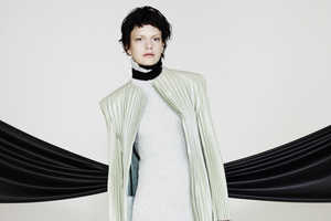 Martina Spetlova's Fall/Winer 2013 Line Features Color Blocked Pleats