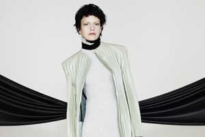 Martina Spetlova's Fall/Winer 2013 Line Features Color Blocked Pleats