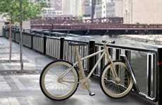 Bike Lock Barriers - Bicycle Fence Merges Two Infrastructural Elements for Efficiency and Security