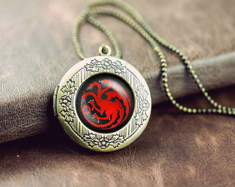 Fantasy Pop Lockets - These Pop Culture Necklace Designs Will Surely Please Fans