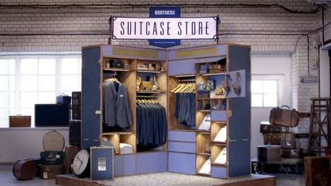 Giant Luggage Pop-Up Shops - The Brothers Suitcase Store Travels Around Sweden
