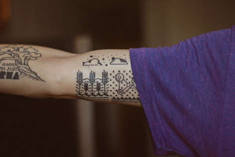 Father-Inspired Minimalist Tattoos - Designer Kirk Wallace's Crop Circle Tattoo Pays Tribute t