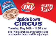 Upside-Down Ice Cream Campaigns - Dairy Queen Serves 10,000 Blizzard Treats Circus-Style