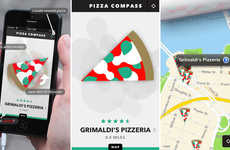 Pizza-Hunting Apps - 'Pizza Compass' App Leads You to the Perfect Slice of Pizza