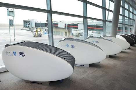 Covered Airport Pods - Abu Dhabi Airport