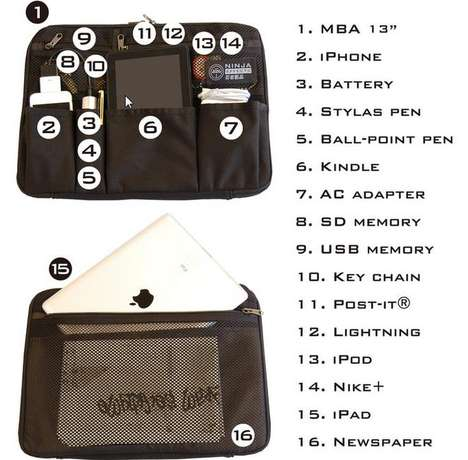 multifunctional laptop case
