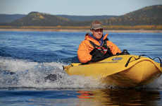Sleek Jet-Propelled Kayaks - The 2013 Mokai ES-Kape Will Spice up Your Fishing Trips