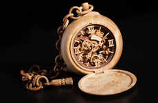 Miniature Wooden Timepieces - Valerii Danevych Creates Watches and Clocks Entirely Out of Lumber