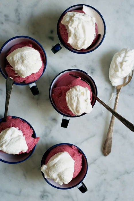 Intoxicated Fruit Sorbet - The 'Apt. 2B Baking Co.' Rhubarb Gin Ice Cream Has a Zing to