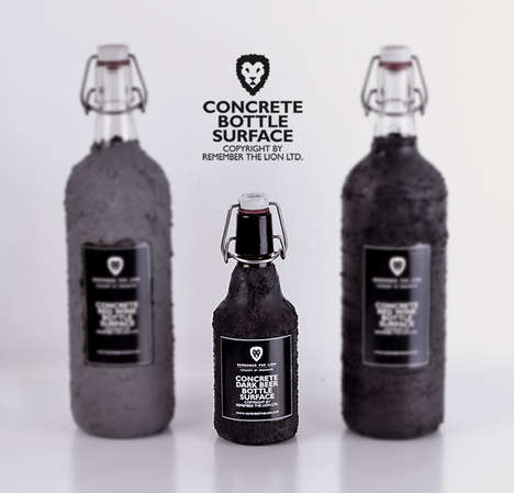 Concrete Bottle Surface
