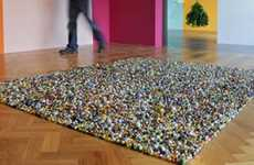 Rainbow Glass Bauble Rugs