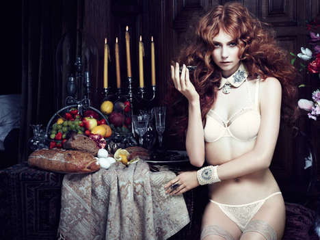Darkly Decadent Lingerie Ads - The Marlies Dekkers Fall 2013 Collection is Inspired by Mauritshuis