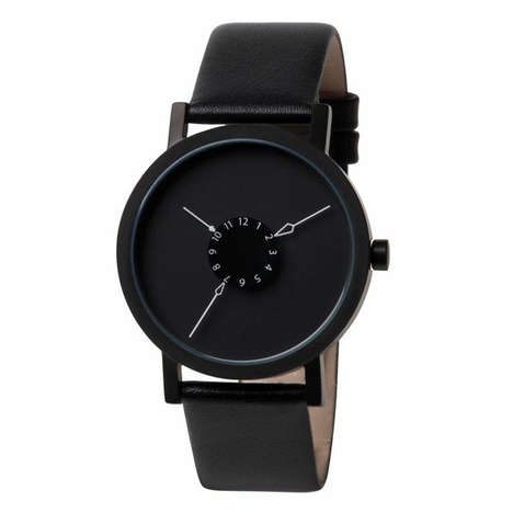 Inverted Celestial Timepieces - The Nadir Watch by Damian Barton is Intriguingly Minimalist