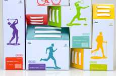 Tetris Sneaker Boxes - Curious Shapes of Breat's Shoe Packaging Have a Playful and Appealing Look