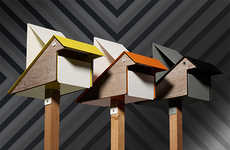 Geometric Birdie Mailboxes