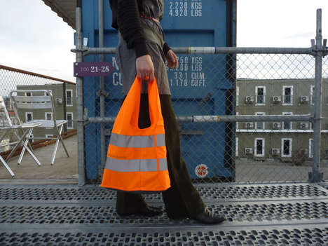 Reflective Fluorescent Totes - High Visibility Bags Fashionably Enhance the Safety of Pedestrians