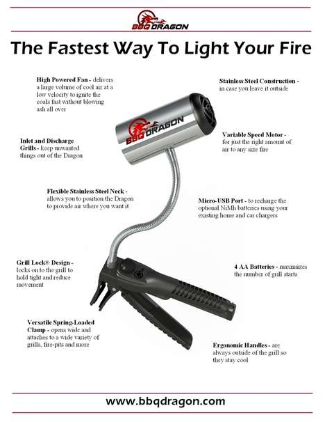 Unique BBQ lighter