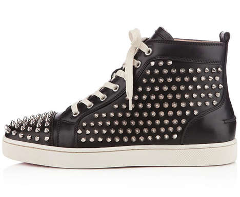 Spiked Leather Sneakers - These Christian Louboutin High Tops are Glamorously Edgy