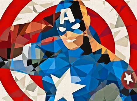 Geometrically Constructed Superheros - These Images by Eric Dufresne Show Classic Comic Characters