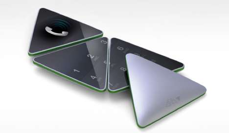 Reconfigurable Triangular Phones - The Evolution of Mobile Adapts Physically for Different Functions