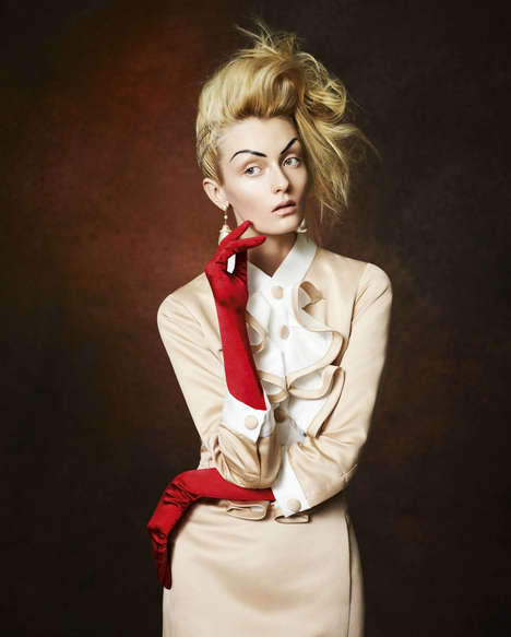 Eccentric Socialite Shoots - Alexa Yudina by Damian Foxe for How To Spend It May 2013 is Richly Chic