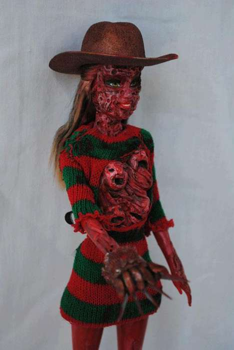 Nightmarish Doll Remakes - The Freddy Krueger Doll is Sure Bring a New Sense of Fear