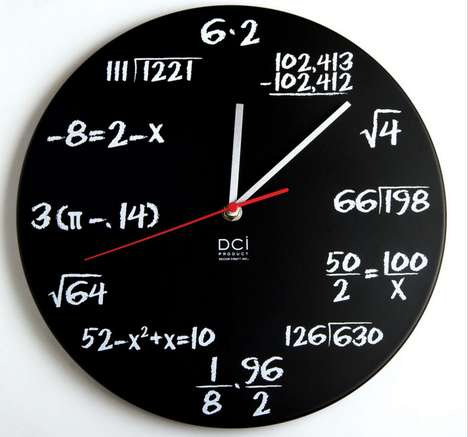 Math Knowledge-Testing Clocks - You Must Be Extremely Good With Mathematics to Read This Timepiece
