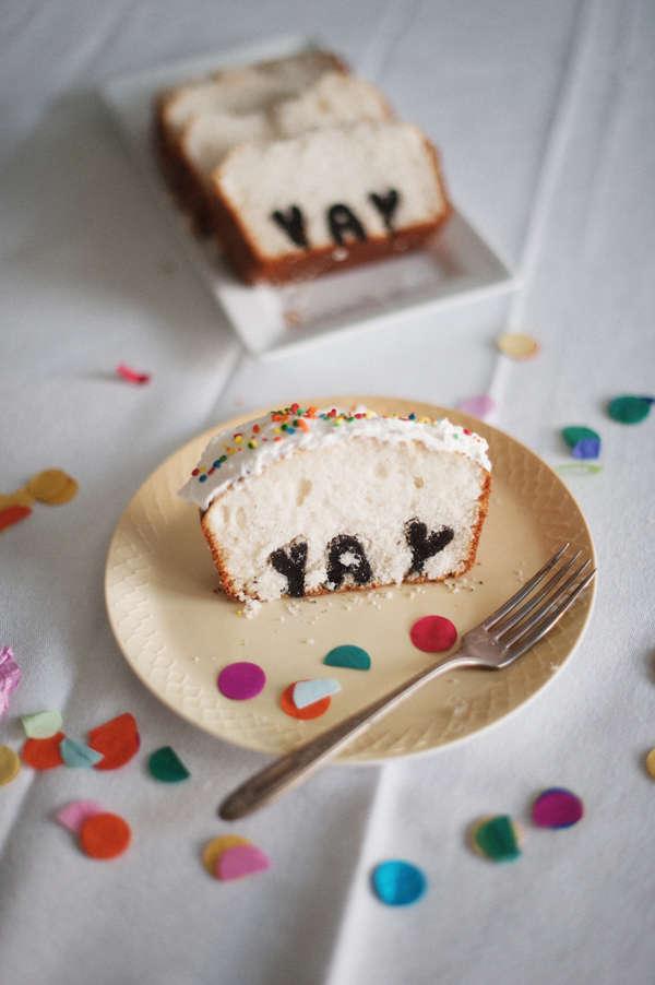 DIY Hidden Text Cakes