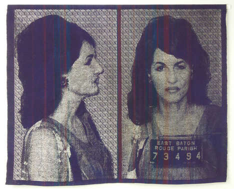 Embroidered Mugshot Art - Artist Joanne Arnett Turns Criminal Portraits into Artworks