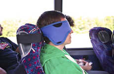 Seat-Strapped Eye Masks - The Eclipse Travel Accessory Helps You Nap Comfortably in Transit