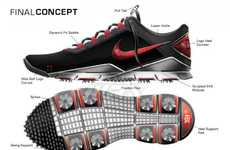 Custom-Fit Golfing Footwear - Pro Golfer Tiger Woods Teams Up with Nike to Design the Nike TW 14