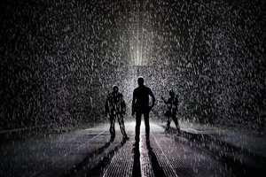 MoMA's Rain Room Is an Exhibit That is Not Afraid to Get You Wet