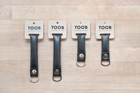 Recycled Bike Tire Accessories - The TOOB Keychain is a Chic, Eco and Practical Doodad