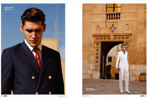 The Isaac Carew Elle Men China Fashion Feature is Retro Infused