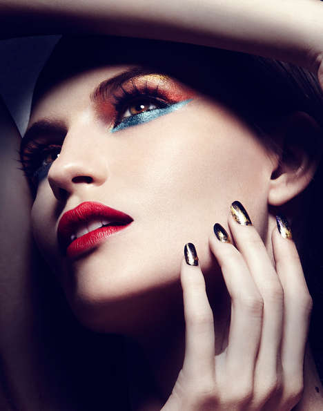 Beetle-Inspired Beauty Looks - Scarab Spring by Michael David Adams is Darkly Colorful