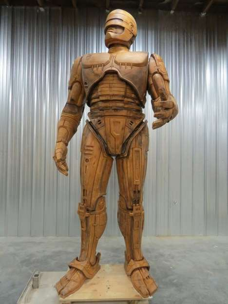 Imposing Robot Tributes   - The Detroit RoboCop Statue is Majestically Gigantic