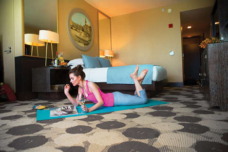 Unorthodox Yoga Hotel Programs - Kimpton Yoga Mat in Every Room Encourages Fitness and Health