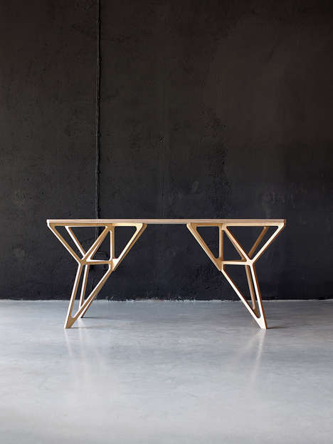 Geometrically Framed Furnishings - The Plywood Collection by Dontdiy Features Angular Accents