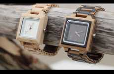Sleek Lumber Timepieces