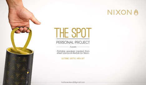 Cylindrical Street Speakers - The Spot for Nixon is a Portable Sound System to Replace the Boom Box