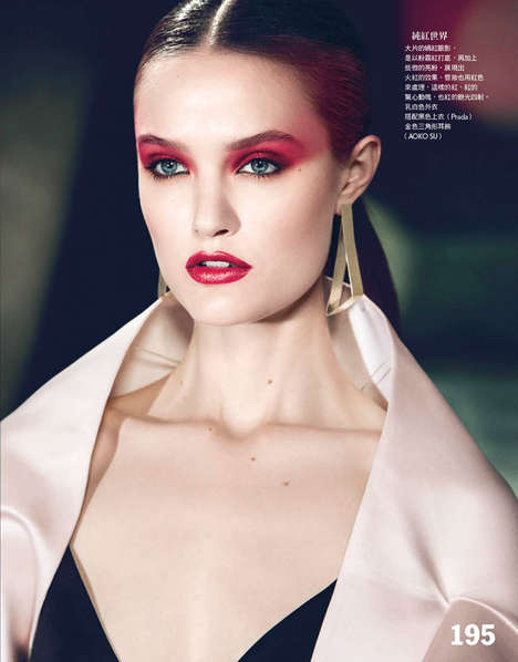Scarlet Eyeshadow Editorials - The Vogue Taiwan