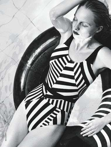 Greyscale Swimsuit Editorials